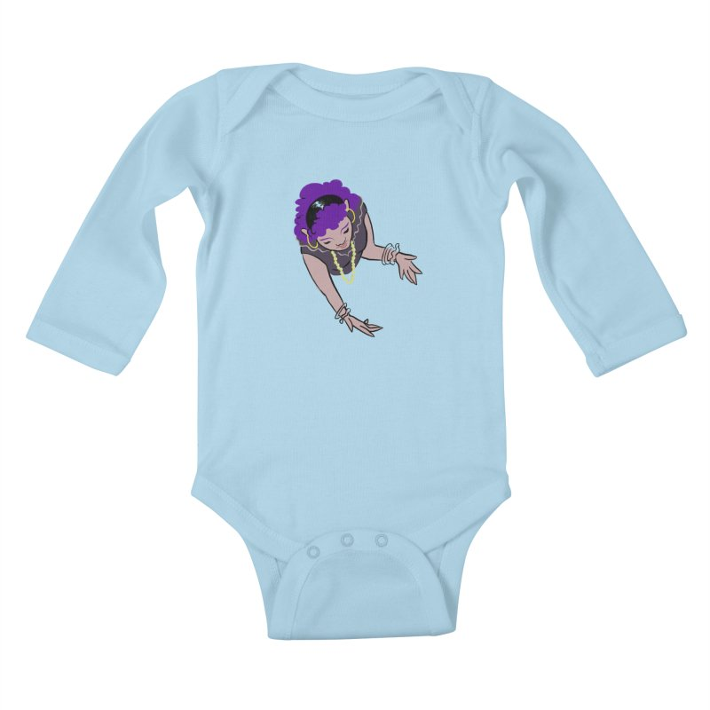 Girl Magic Kids Baby Longsleeve Bodysuit by Stephanie Gobby's Artist Shop