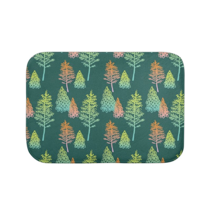 Gradient Forest Home Bath Mat by Stephanie Gobby's Artist Shop