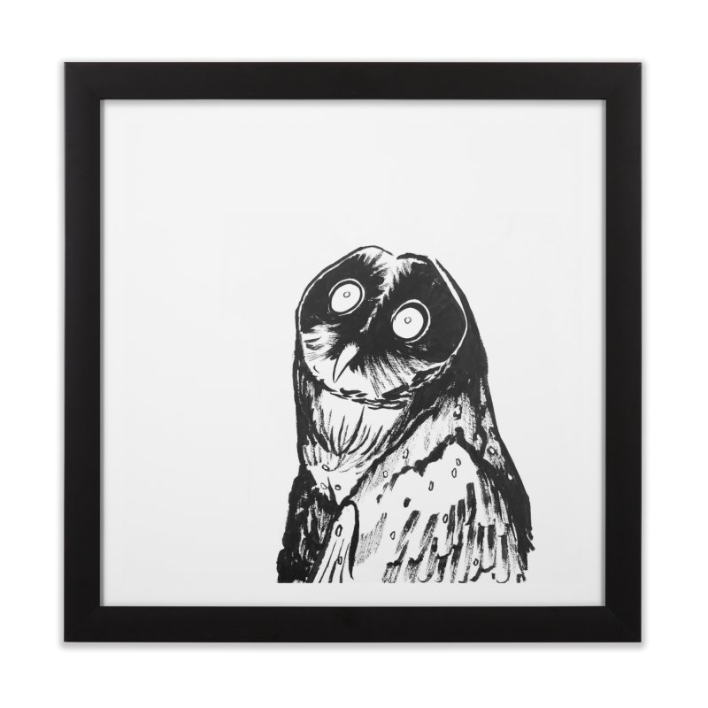 Hoot Home Framed Fine Art Print by Stephanie Gobby's Artist Shop