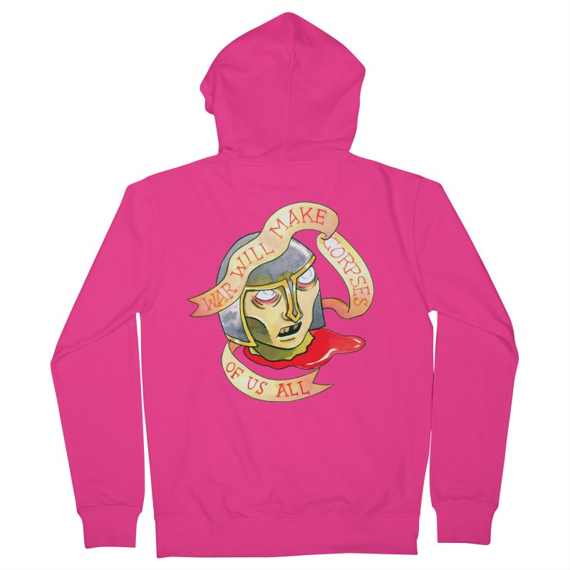 War Will Make Corpses of Us All Men's French Terry Zip-Up Hoody by Stephanie Gobby's Artist Shop