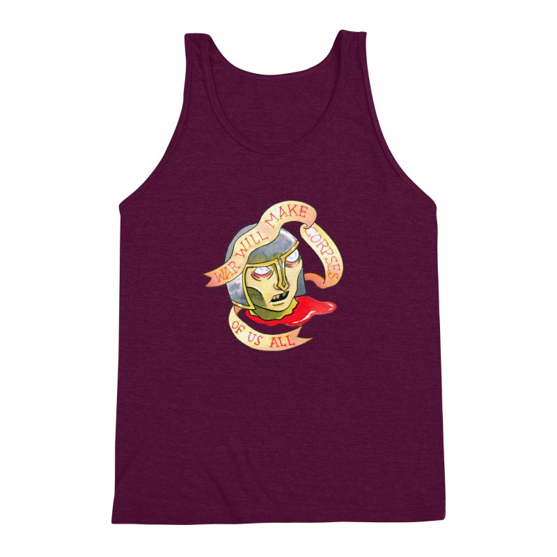 War Will Make Corpses of Us All Men's Triblend Tank by Stephanie Gobby's Artist Shop