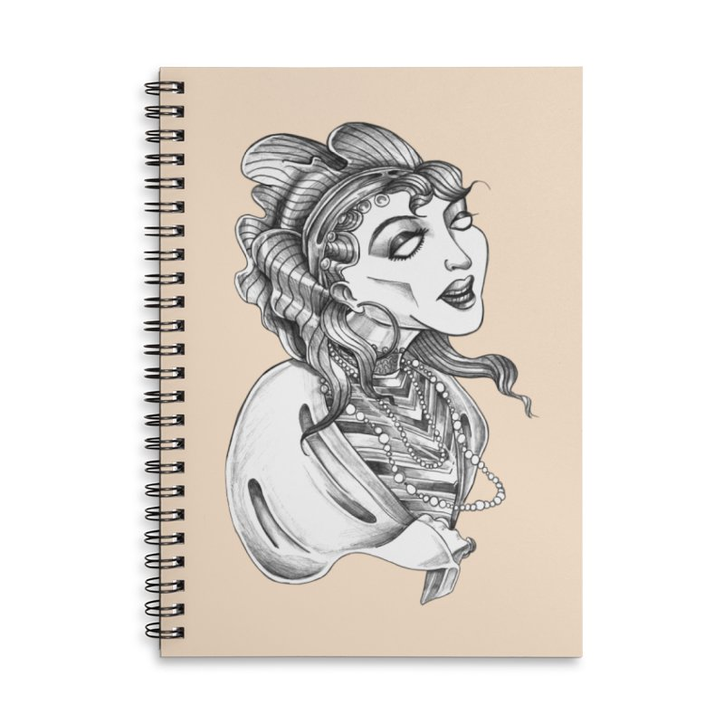 Fortune Teller Accessories Lined Spiral Notebook by Stephanie Gobby's Artist Shop