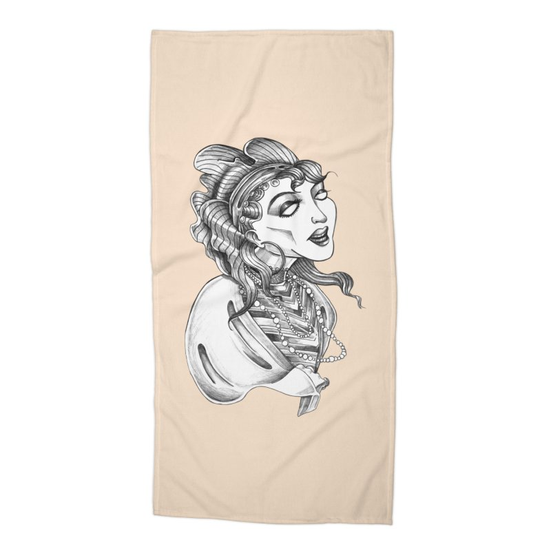 Fortune Teller Accessories Beach Towel by Stephanie Gobby's Artist Shop