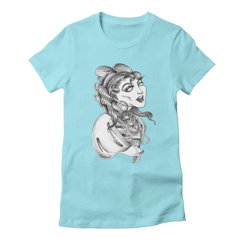 Fortune Teller Women's Fitted T-Shirt by Stephanie Gobby's Artist Shop