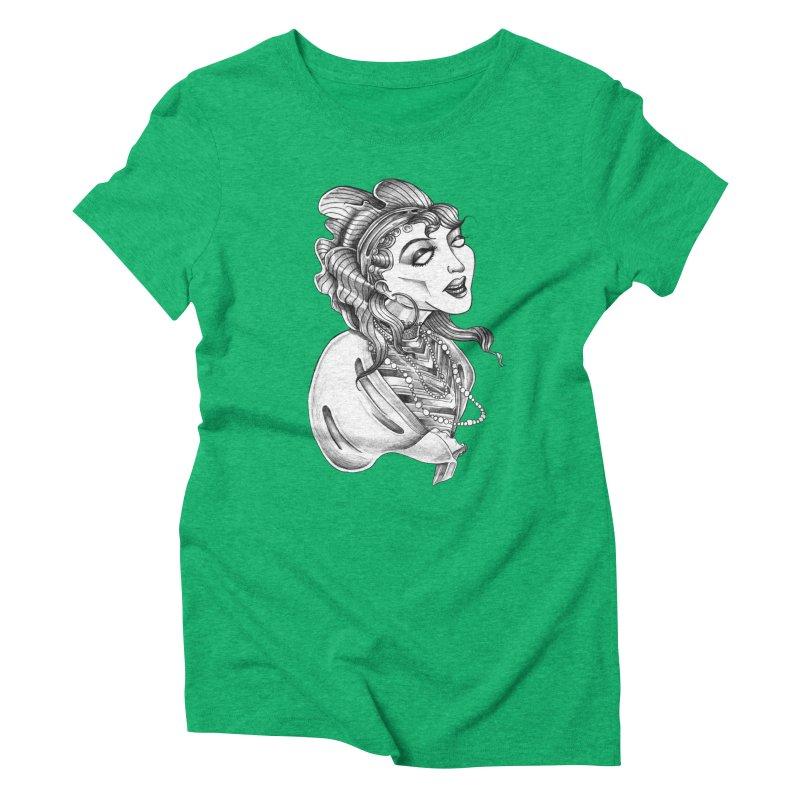 Fortune Teller Women's Triblend T-Shirt by Stephanie Gobby's Artist Shop