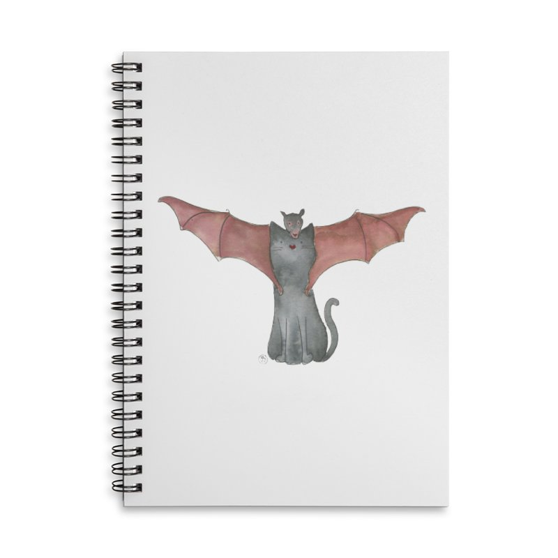 Battycat Accessories Lined Spiral Notebook by Stephanie Inagaki