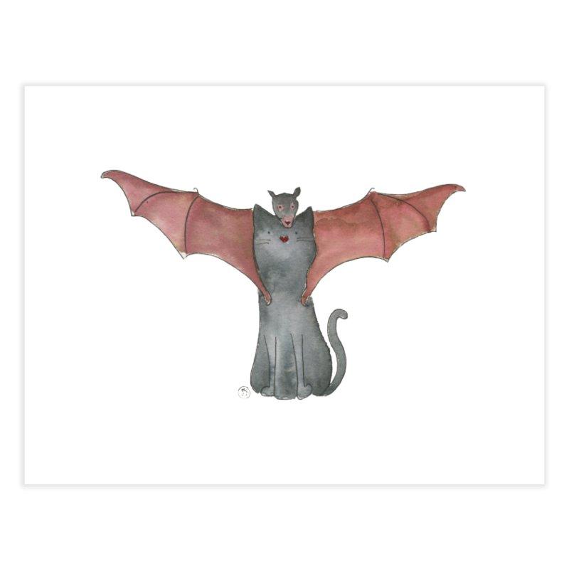 Battycat Home Fine Art Print by Stephanie Inagaki