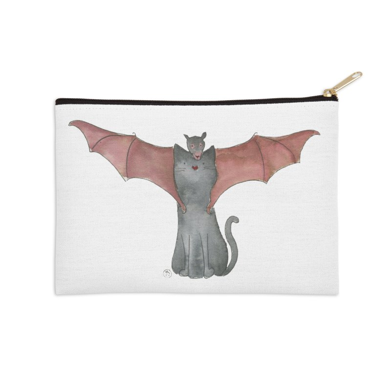Battycat Accessories Zip Pouch by Stephanie Inagaki