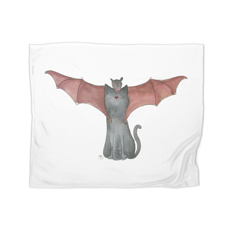 Battycat Home Fleece Blanket Blanket by Stephanie Inagaki