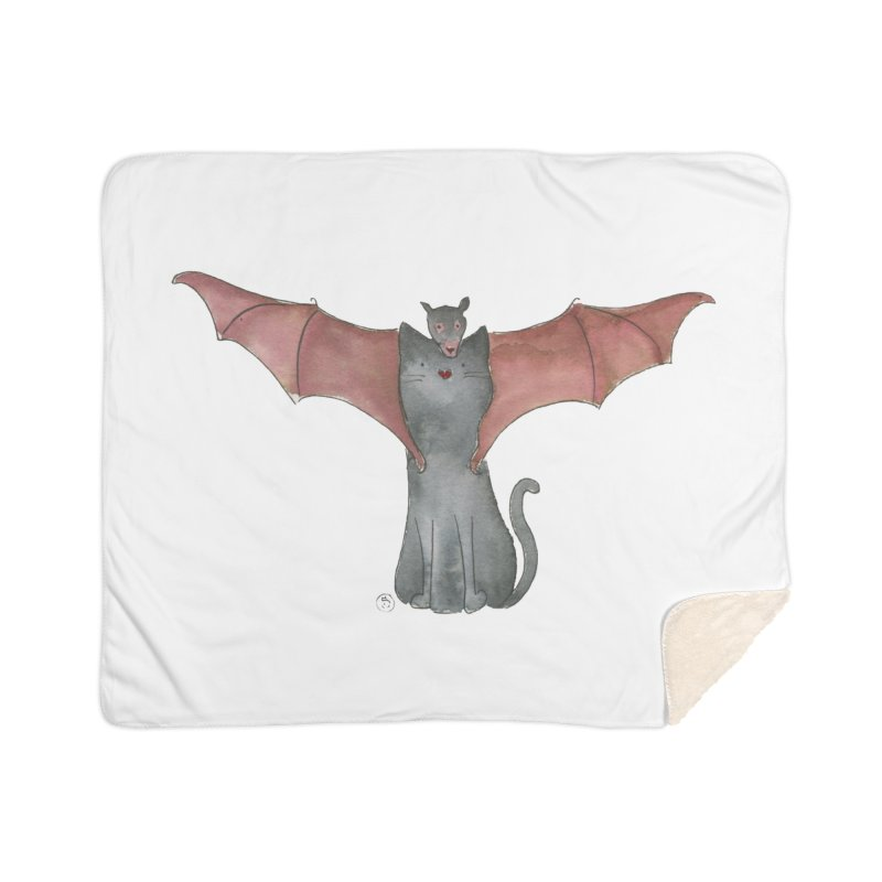 Battycat Home Sherpa Blanket Blanket by Stephanie Inagaki