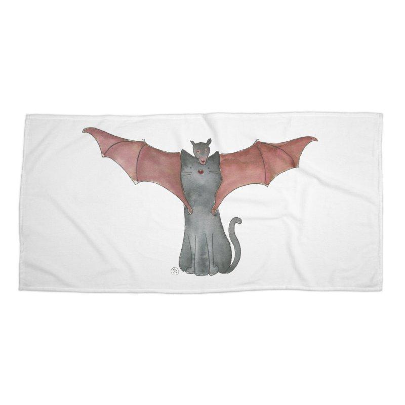 Battycat Accessories Beach Towel by Stephanie Inagaki