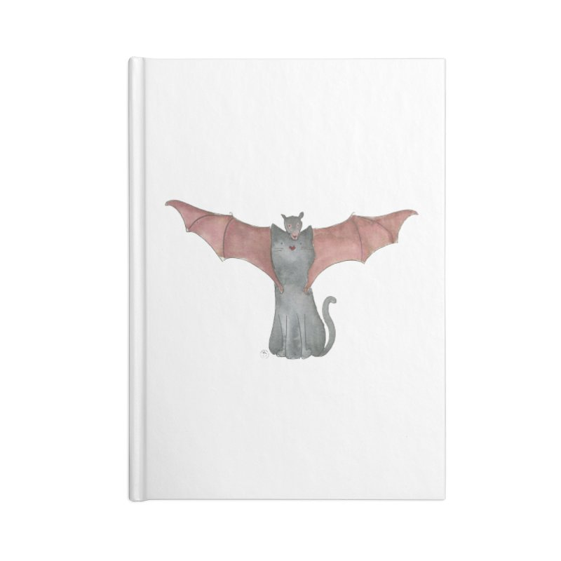 Battycat Accessories Blank Journal Notebook by Stephanie Inagaki