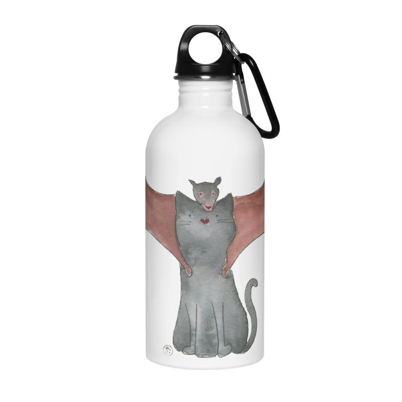 Battycat Accessories Water Bottle by Stephanie Inagaki