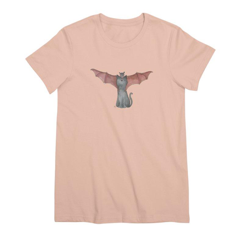Battycat Women's Premium T-Shirt by Stephanie Inagaki