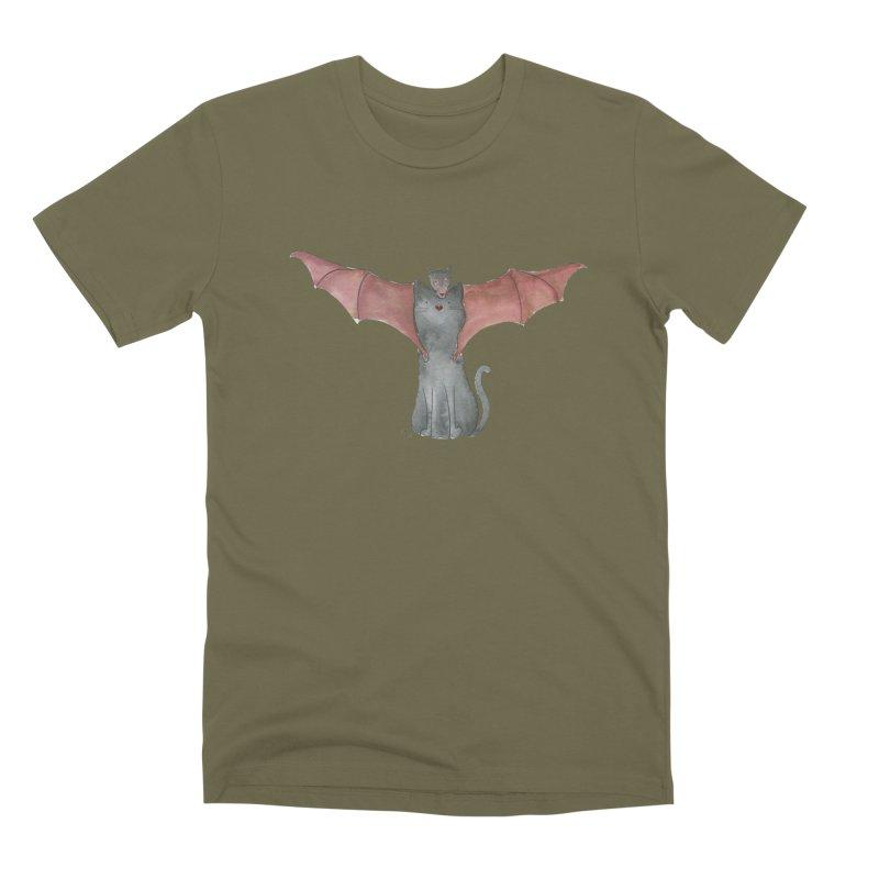 Battycat Men's Premium T-Shirt by Stephanie Inagaki