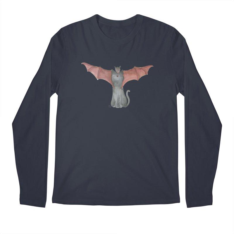 Battycat Men's Regular Longsleeve T-Shirt by Stephanie Inagaki