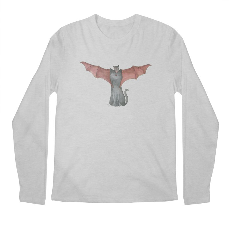 Battycat Men's Regular Longsleeve T-Shirt by Stephanie Inagaki