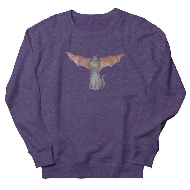Battycat Women's French Terry Sweatshirt by Stephanie Inagaki