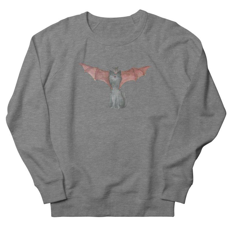 Battycat Men's French Terry Sweatshirt by Stephanie Inagaki