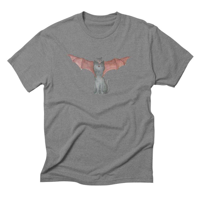 Battycat Men's Triblend T-Shirt by Stephanie Inagaki