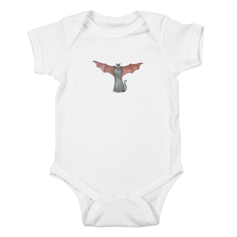 Battycat Kids Baby Bodysuit by Stephanie Inagaki