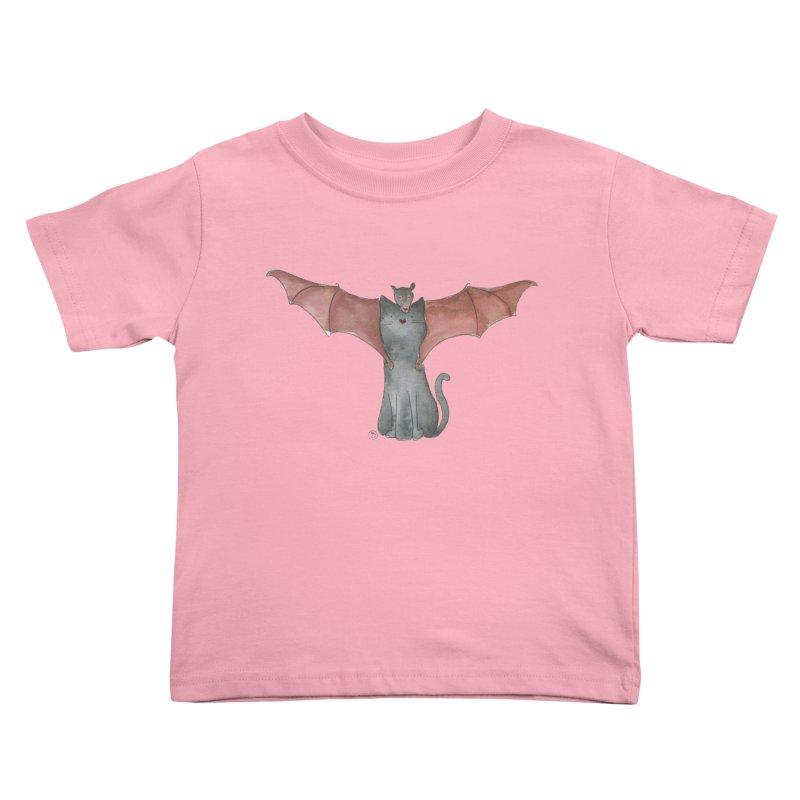 Battycat Kids Toddler T-Shirt by Stephanie Inagaki