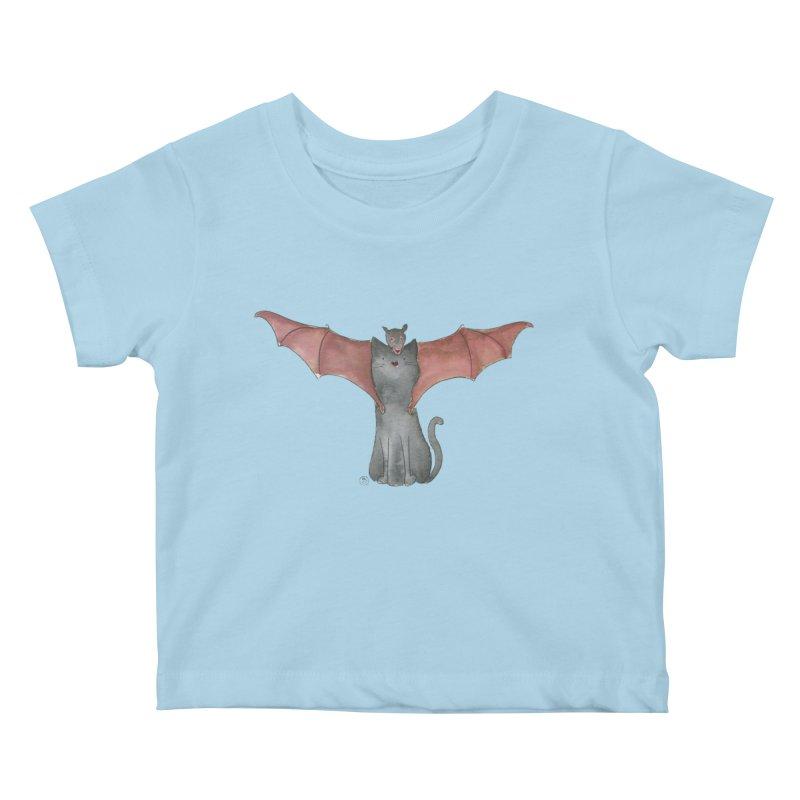 Battycat Kids Baby T-Shirt by Stephanie Inagaki