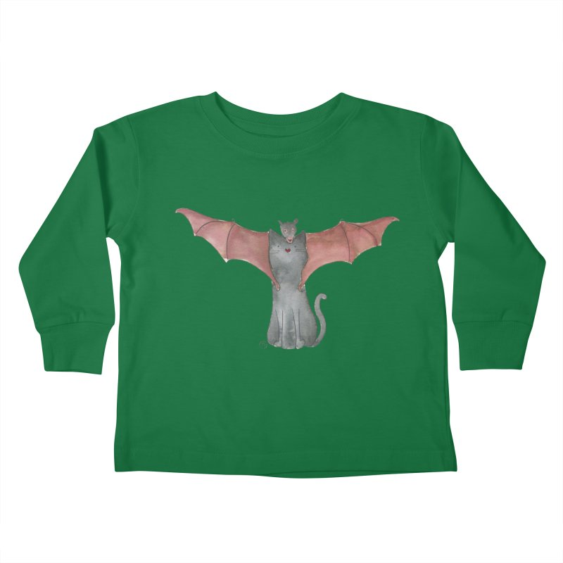 Battycat Kids Toddler Longsleeve T-Shirt by Stephanie Inagaki