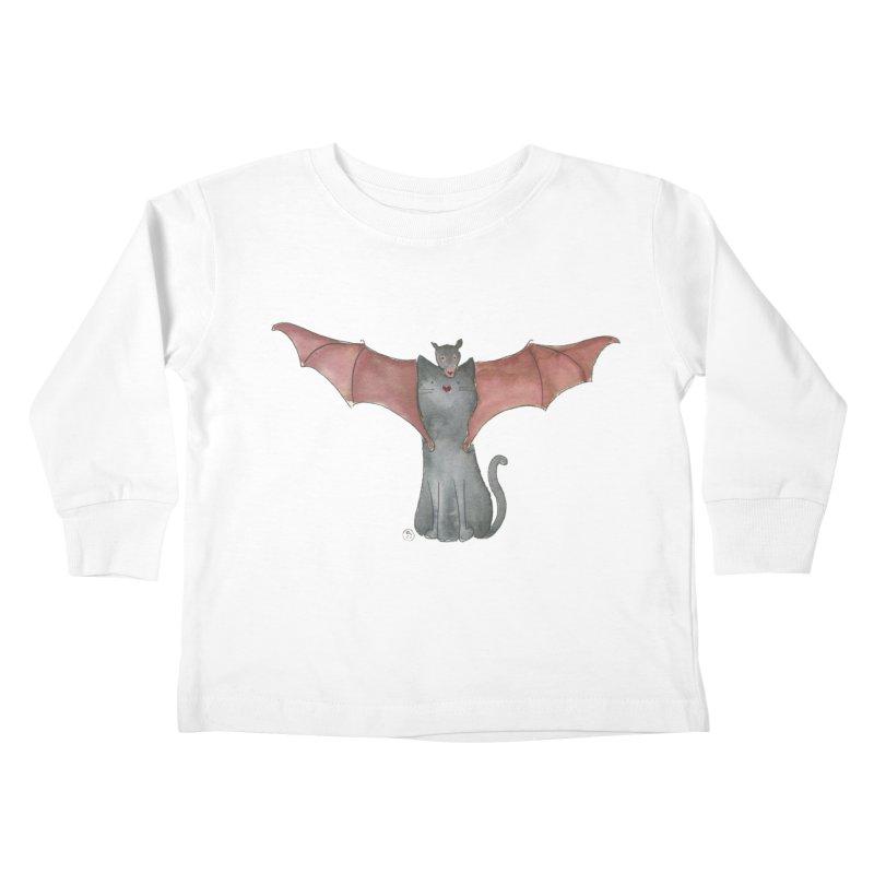 Battycat Kids Toddler Longsleeve T-Shirt by Stephanie Inagaki