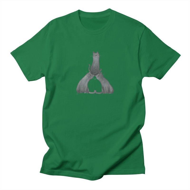 Kitty Pyramid Men's T-Shirt by Stephanie Inagaki