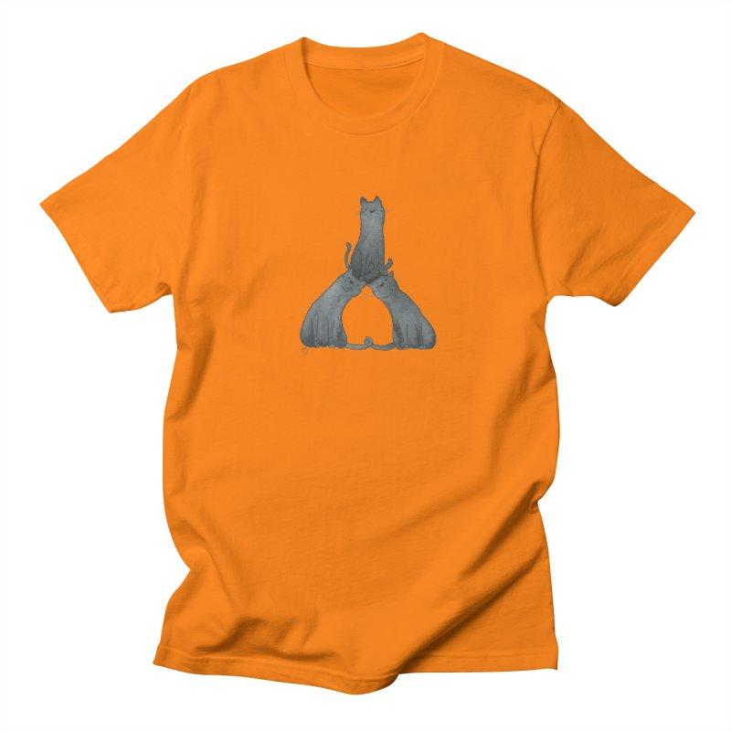 Kitty Pyramid Men's Regular T-Shirt by Stephanie Inagaki