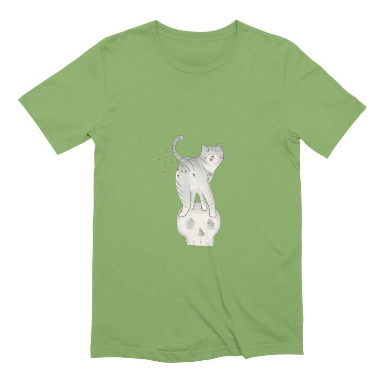 Kitty Sparkles Men's Extra Soft T-Shirt by Stephanie Inagaki