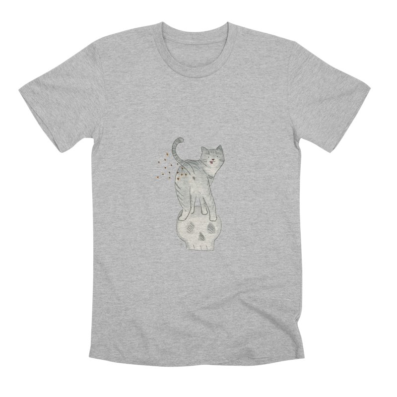Kitty Sparkles Men's Premium T-Shirt by Stephanie Inagaki