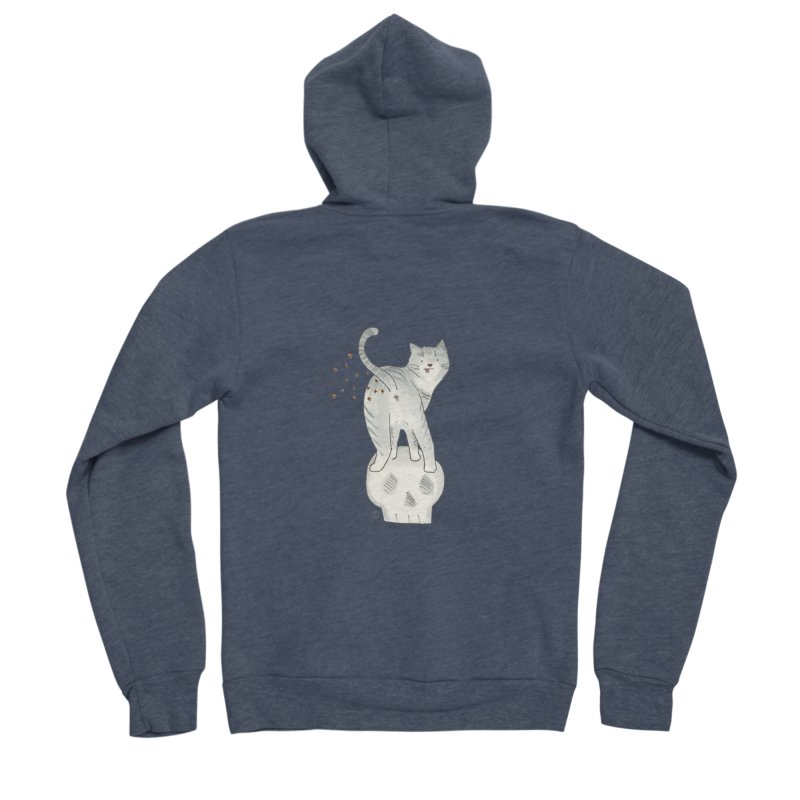 Kitty Sparkles Women's Sponge Fleece Zip-Up Hoody by Stephanie Inagaki