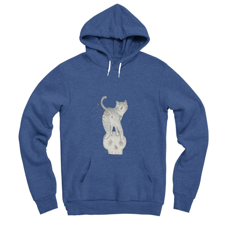 Kitty Sparkles Women's Sponge Fleece Pullover Hoody by Stephanie Inagaki