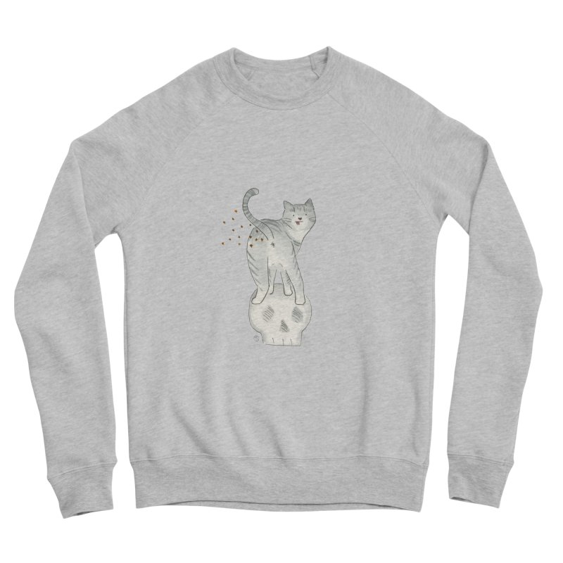 Kitty Sparkles Men's Sponge Fleece Sweatshirt by Stephanie Inagaki