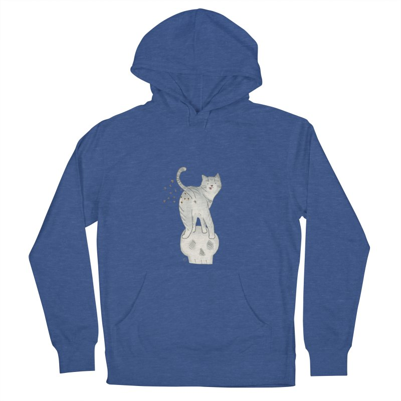 Kitty Sparkles Men's French Terry Pullover Hoody by Stephanie Inagaki