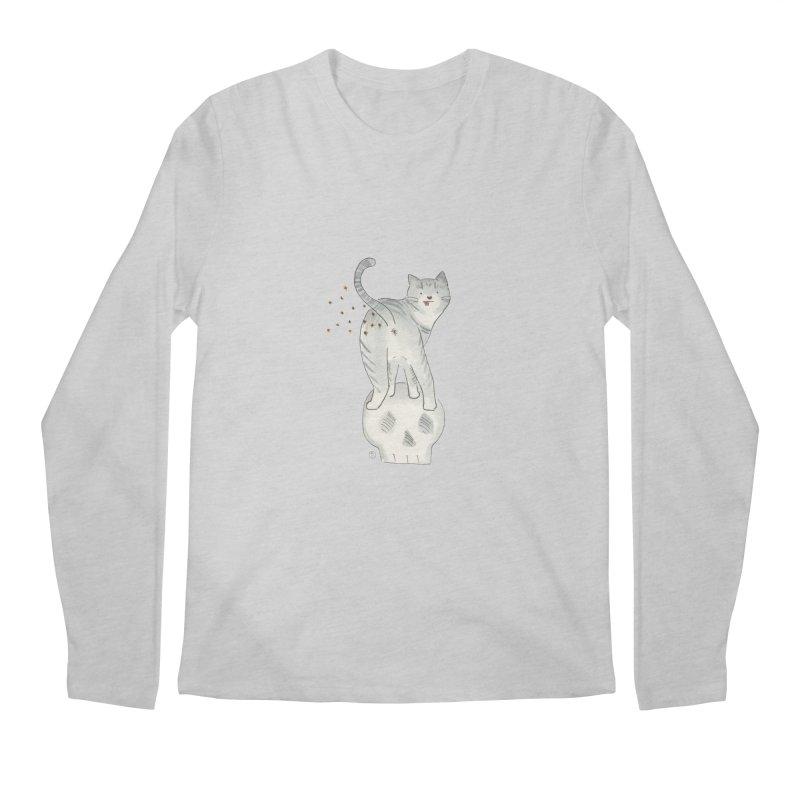 Kitty Sparkles Men's Regular Longsleeve T-Shirt by Stephanie Inagaki