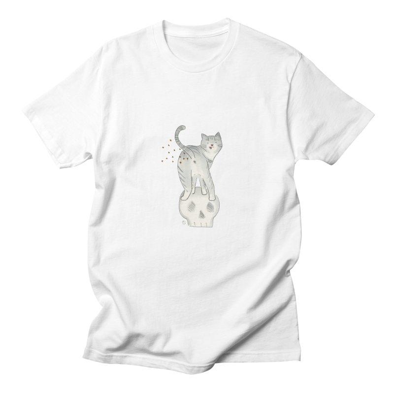 Kitty Sparkles Men's Regular T-Shirt by Stephanie Inagaki