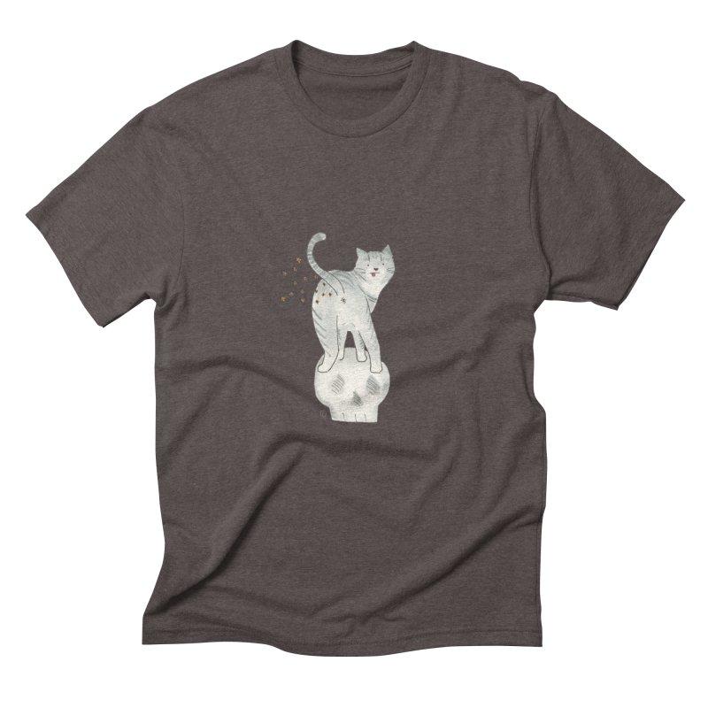 Kitty Sparkles Men's Triblend T-Shirt by Stephanie Inagaki
