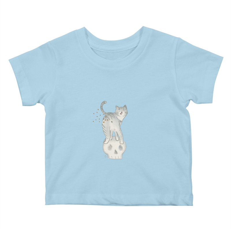 Kitty Sparkles Kids Baby T-Shirt by Stephanie Inagaki
