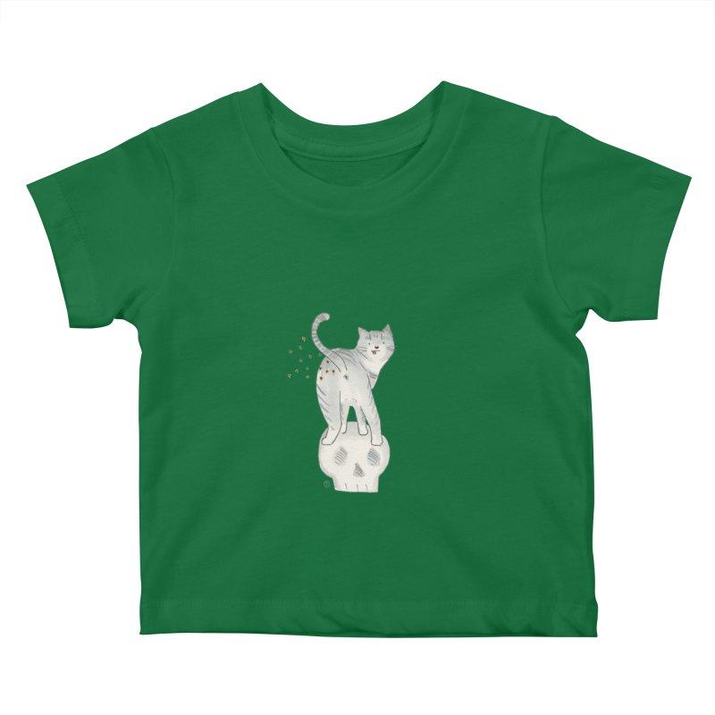Kitty Sparkles Kids Baby T-Shirt by Stephanie Inagaki