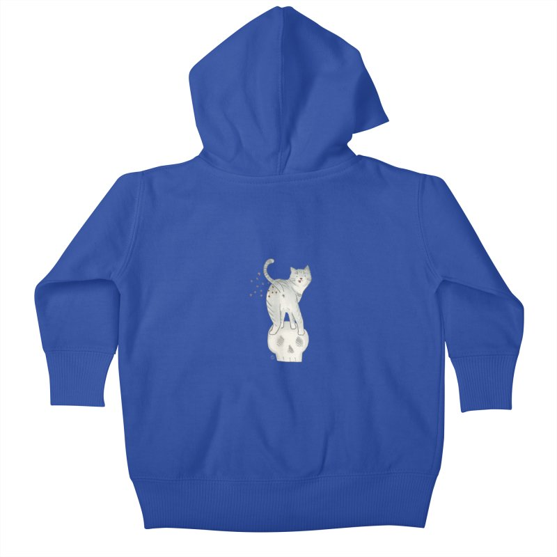Kitty Sparkles Kids Baby Zip-Up Hoody by Stephanie Inagaki