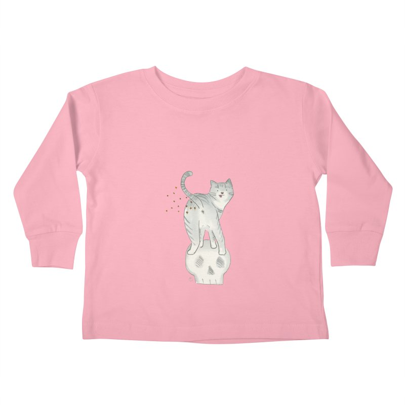 Kitty Sparkles Kids Toddler Longsleeve T-Shirt by Stephanie Inagaki