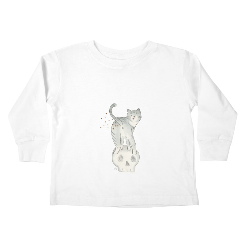 Kitty Sparkles Kids Toddler Longsleeve T-Shirt by Stephanie Inagaki