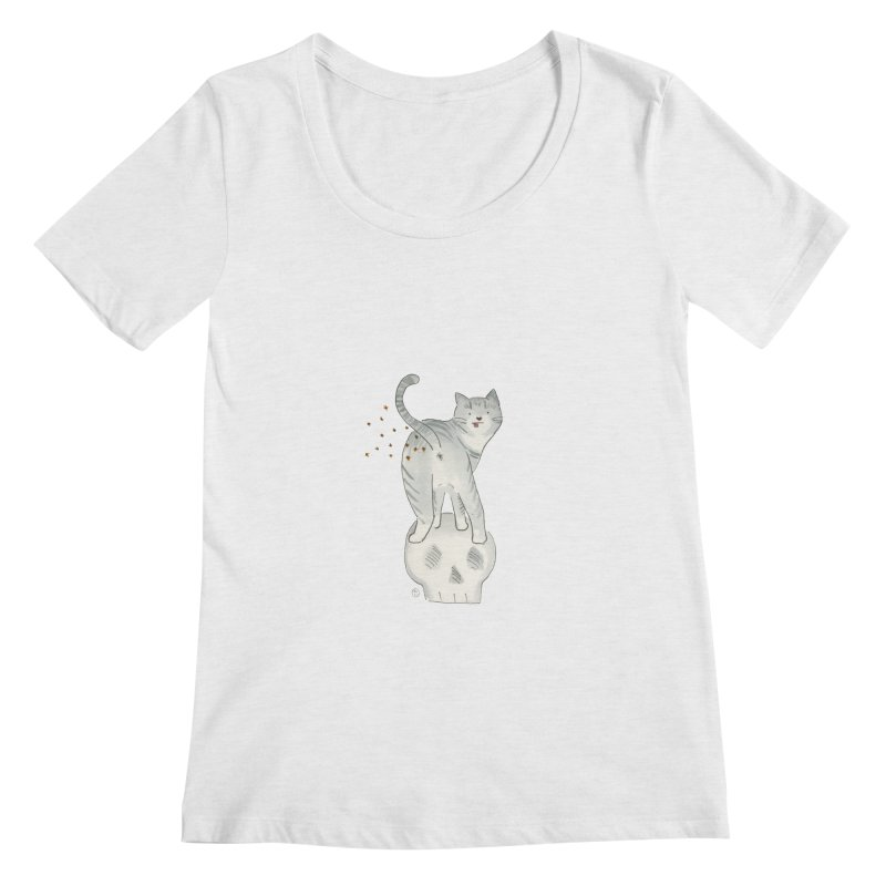 Kitty Sparkles Women's Scoop Neck by Stephanie Inagaki