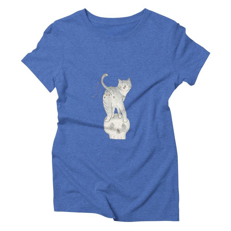 Kitty Sparkles Women's Triblend T-Shirt by Stephanie Inagaki