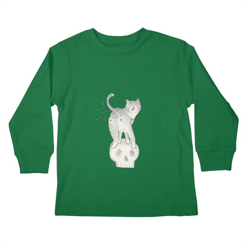 Kitty Sparkles Kids Longsleeve T-Shirt by Stephanie Inagaki