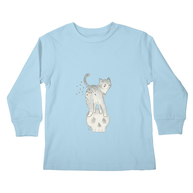 Kitty Sparkles Kids Longsleeve T-Shirt by Stephanie Inagaki