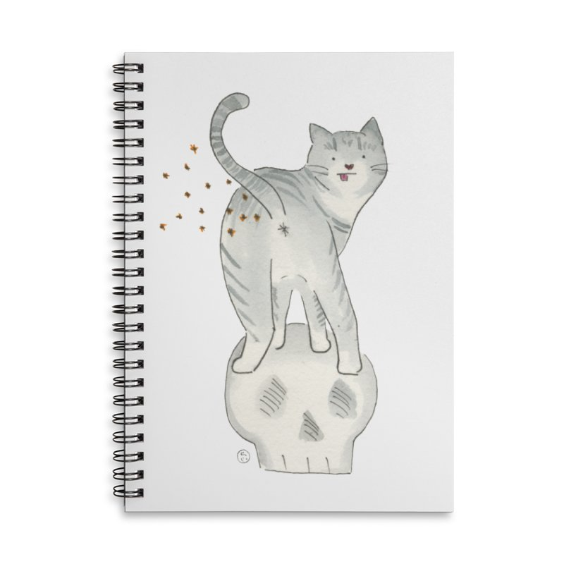 Kitty Sparkles Accessories Lined Spiral Notebook by Stephanie Inagaki